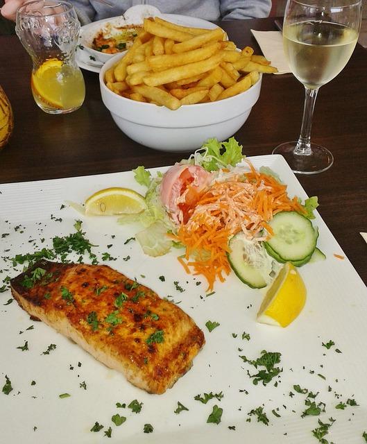 fisk og hvidvin
